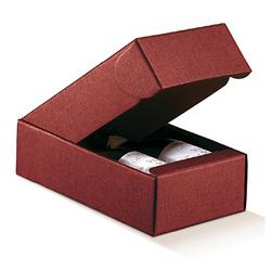 Scatole confezioni Cantinetta 2 Bott. Seta bordeaux 340x185x90mm