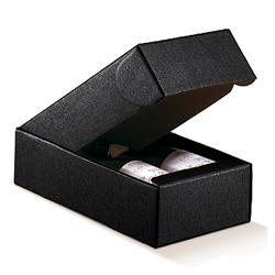 Scatole confezioni Cantinetta 2 Bott. Seta nero 340x185x90mm 10pz