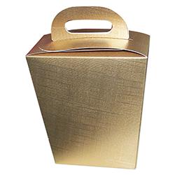 Scatole confezioni BACIO seta oro 100x50x160 10pz