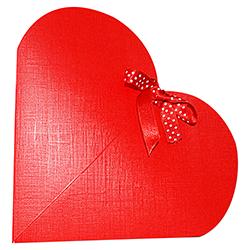 Scatole confezioni Cuore Seta rosso 240x50mm 10pz