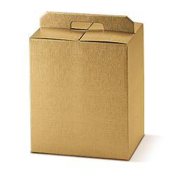 Scatole confezioni Porta Panettone+bott. Seta oro 305x225x350mm 10pz