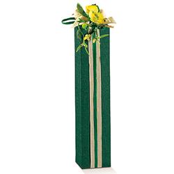 Scatole confezioni Petit 1 Bottiglia Seta verde 65x65x320mm10pz