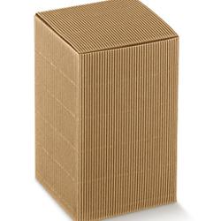 Scatole confezioni PIEGHEVOLE onda avana 100x100x60 10pz