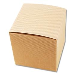 Scatole confezioni Pieghevole Onda sabbia 120x120x120mm 20pz