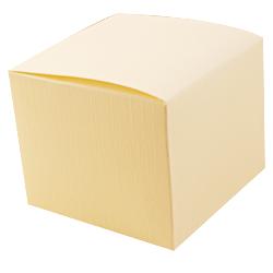 Scatole confezioni PIEGHEVOLE seta avorio 80x80x110 10pz