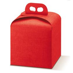 Scatole confezioni Porta Panettone Seta rosso 200x200x180mm 10pz