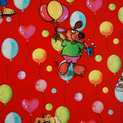 Carta regalo PARTY, 70x100cm, Rosso