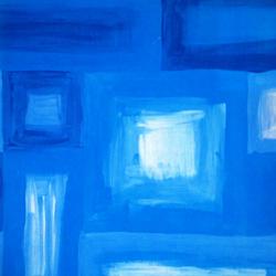 Carta regalo QUADRI ASTRATTI, 70x100cm, Blu