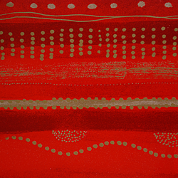 Carta regalo Dotted line, 70x100cm, Red