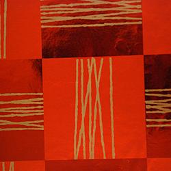 Carta regalo Metallizzata QUADRI, 70x100cm, Mattone/Rame