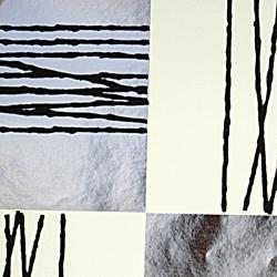 Carta regalo Metallizzata QUADRI, 70x100cm, Crema/Argento