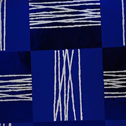 Carta regalo Metallizzata QUADRI, 70x100cm, Blu/Argento