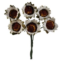 Pick e accessori bomboniere GIRASOLE Piccolo Bianco (144 pz)