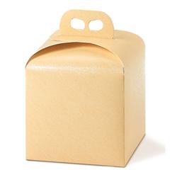 Scatole confezioni Porta Panettone Seta sabbia 200x200x180mm 10pz