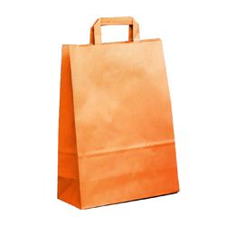 Shopping bag PIATTINA DUPLEX Arancio 22x10x29cm (50 pz)