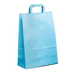 Shopping bag PIATTINA DUPLEX Azzurro 32x17x45cm (50 pz)