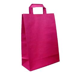 Shopping bag PIATTINA DUPLEX Bordeaux 32x17x45cm (50 pz)