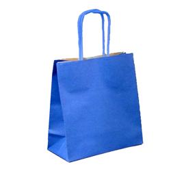Shopping bag TORCIGLIONE Duplex Blu 26x12x26cm (50 pz)