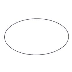 Etichette chiudipacco  Etichette Personalizzate Ovali 40x25 mm cf. 5000