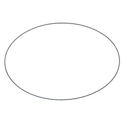 Etichette chiudipacco  Etichette Personalizzate Ovali 45x30 mm cf 5000