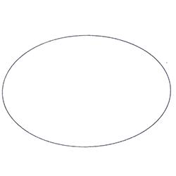 Etichette chiudipacco  Etichette Personalizzate Ovali 50x32 mm cf 5000