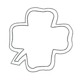 Etichette chiudipacco Etichette Personalizzate Quadrifoglio 42x42 mm cf