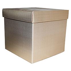 Scatole confezioni F/CECON seta oro 200x200x190