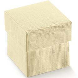 Scatole confezioni F/CECON seta avorio 200x200x190