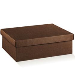 Scatole confezioni F/C DP seta marrone 165x110x40