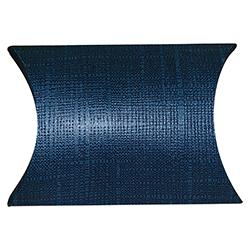 Scatole confezioni BUSTA juta blu 70x70x25