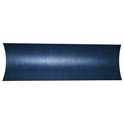Scatole confezioni BUSTA juta blu 355x130x35