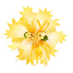 Portaconfetti Flowering Grosgrain+Organdie Toned-down mm60/25Mt