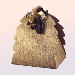 Scatole confezioni Albero Oro nero 345x300x330mm 10pz