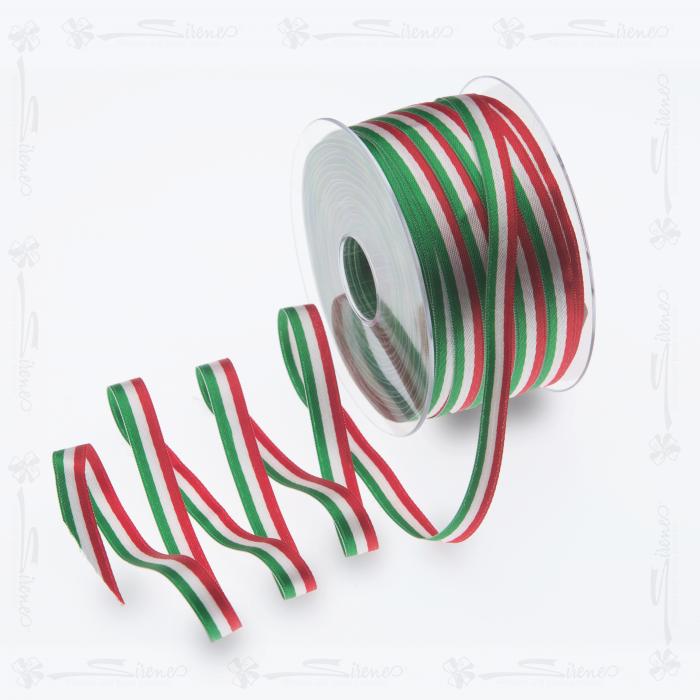 Nastri decorativi DOPPIO RASO 10mm/ Mt100 tricolore