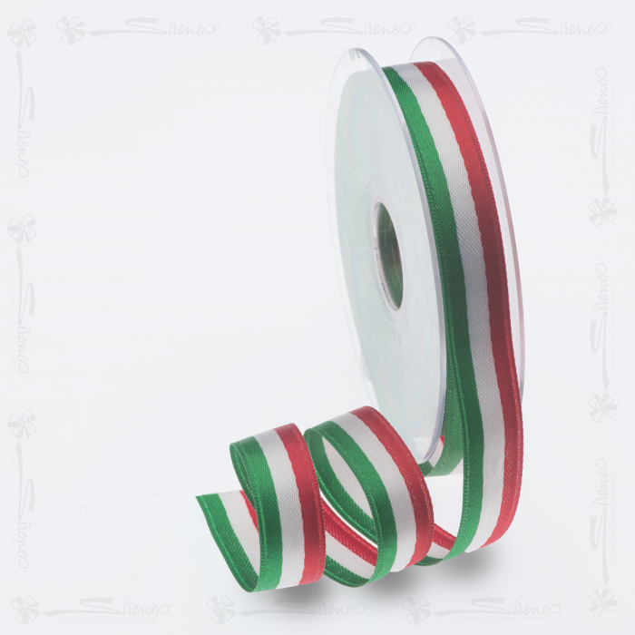 Nastri decorativi DOPPIO RASO 15mm/ Mt50 tricolore