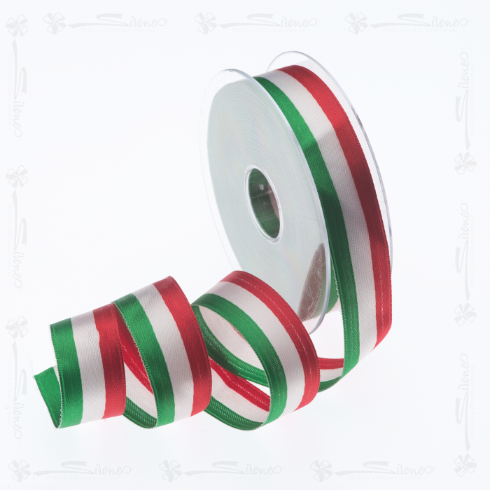Nastri decorativi DOPPIO RASO 25mm/ Mt50 tricolore