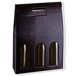 Scatole confezioni SC.3 BOTT. PELLE NERO 270X90X385 10pz