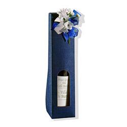 Scatole confezioni valigetta 1 BOTT. juta blu 90x90x370 10pz