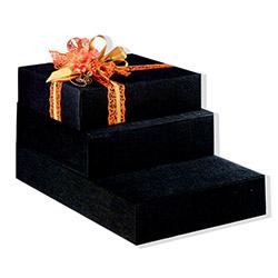 Scatole confezioni Cantinetta 3 Bott. Seta nero 340x280x90mm 10pz