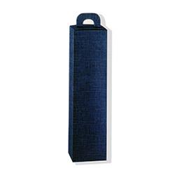 Scatole confezioni Scatola valigia 1 Bott. juta blu90x90x340mm 10pz