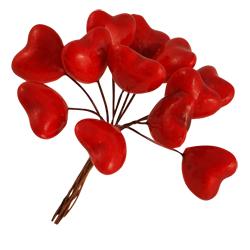 Pick e accessori bomboniere CUORE PICCOLO ROSSO (144 pz)
