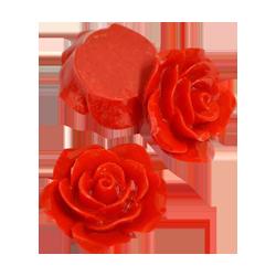 Pick e accessori bomboniere ROSA RESINA DIAM 20MM ROSSO PZ12