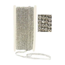Pick e accessori bomboniere NASTRO STRASS DOPPIO MM9X10MT