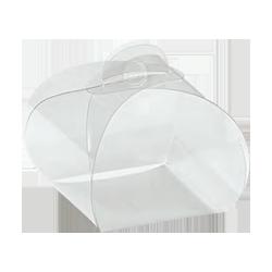 Scatole confezioni TORTINA 120x120x100 TRASPARENT