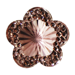 Pick e accessori bomboniere FIORE BRILLANTE PICCOLO (DIAM.19MM) ROSA