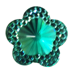 Pick e accessori bomboniere FIORE BRILLANTE PICCOLO (DIAM.19MM) VERDE