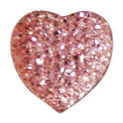 Pick e accessori bomboniere CUORE BRILLANTE MEDIO (DIAM.30MM) ROSA
