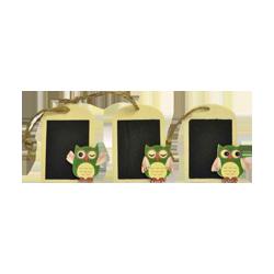 Pick e accessori bomboniere LAVAGNA C/GUFO MOD.ASST.CM.7.5X5 PZ 2