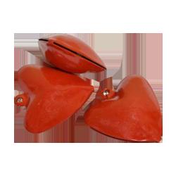 Pick e accessori bomboniere CUORE METALLO CAMPAN.CM.2.5 SCX24PZ ROSSO